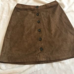 Abercrombie & Fitch faux suede skirt xs